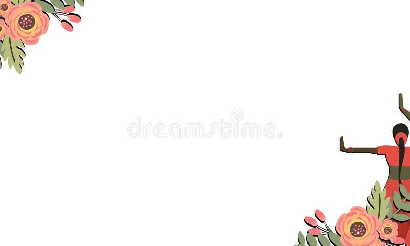Lycklig kvinnors dagaffisch, hälsningkort Inbjudningar med pappers- klippt stil med en älskvärd bakgrund - Mappen för vektorn vektor illustrationer