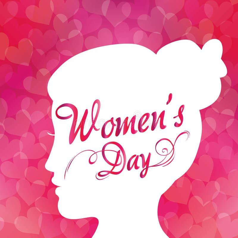 Lycklig kvinnors dagdesign stock illustrationer