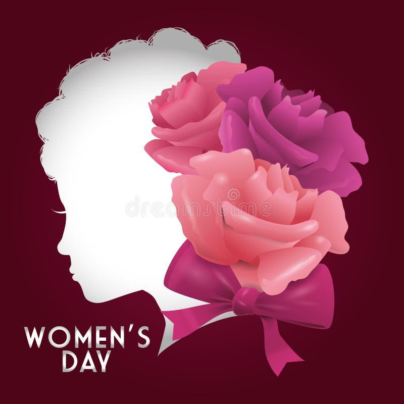 Lycklig kvinnors dagdesign royaltyfri illustrationer
