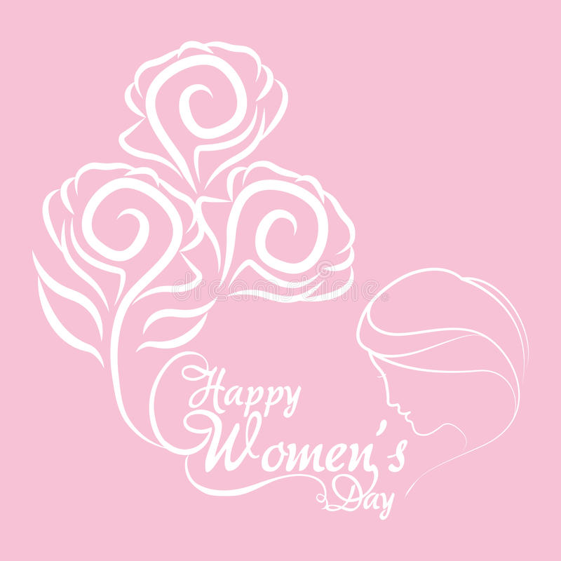 lycklig kvinnors flicka för blommor för daggrupp vektor illustrationer