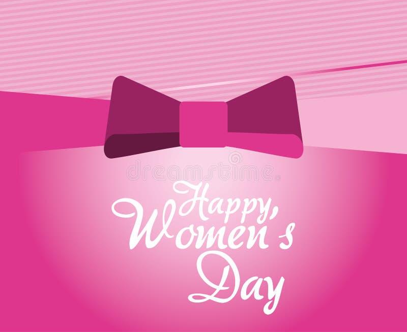 lycklig kvinnors pilbåge för meddelande för dagkort vektor illustrationer