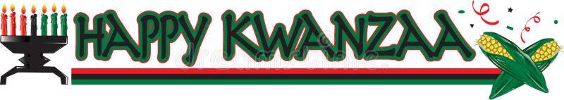 Lycklig Kwanzaa text royaltyfri illustrationer