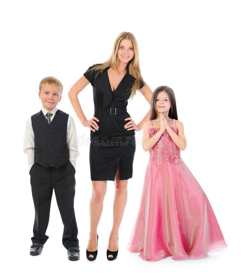 Lycklig le familj fotografering för bildbyråer