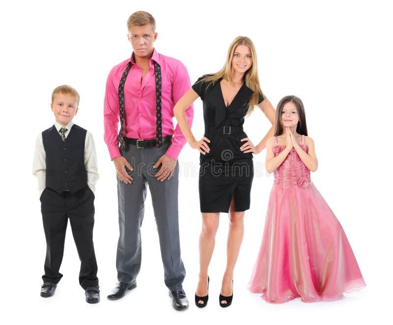 Lycklig le familj royaltyfria foton