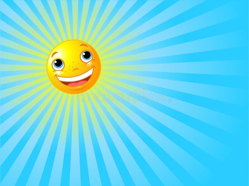 lycklig le sommarsun för bakgrund stock illustrationer