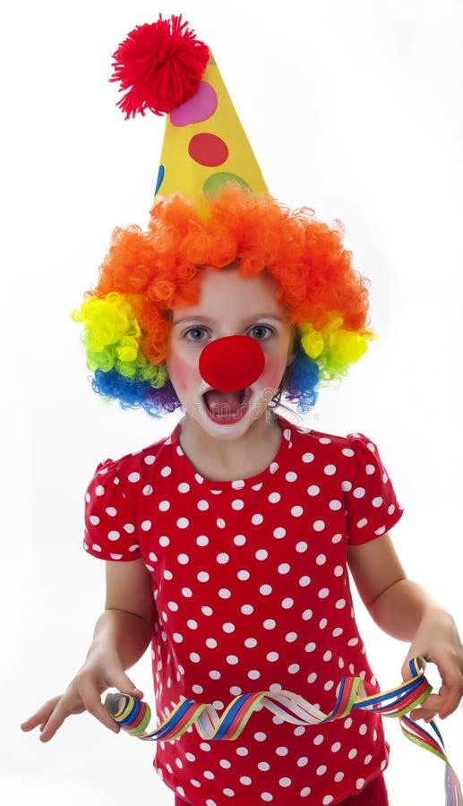 Lycklig lite clown arkivbild