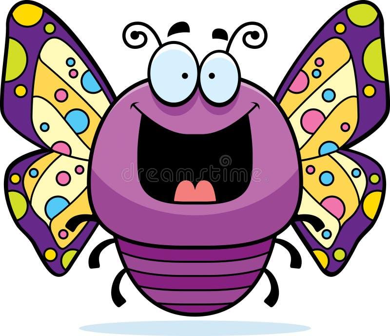 Lycklig liten fjäril royaltyfri illustrationer
