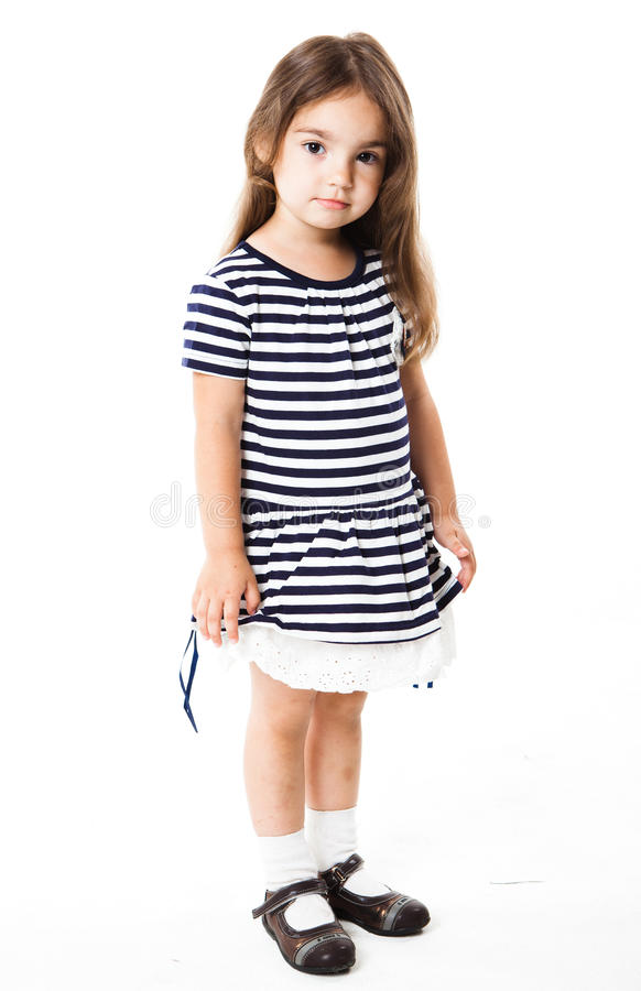 Lycklig liten flicka royaltyfria foton