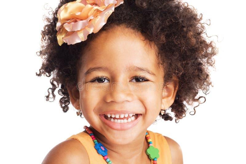 Lycklig liten flicka royaltyfri bild