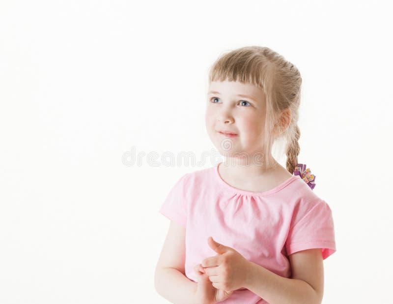 lycklig liten stående för flicka royaltyfri fotografi