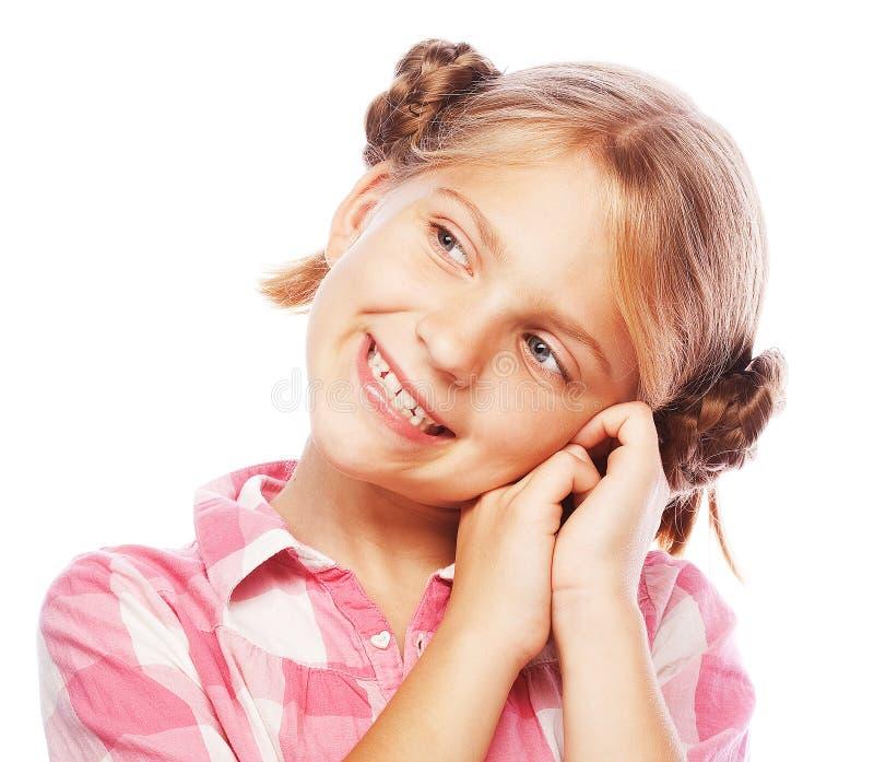 lycklig liten tid för flicka royaltyfria bilder