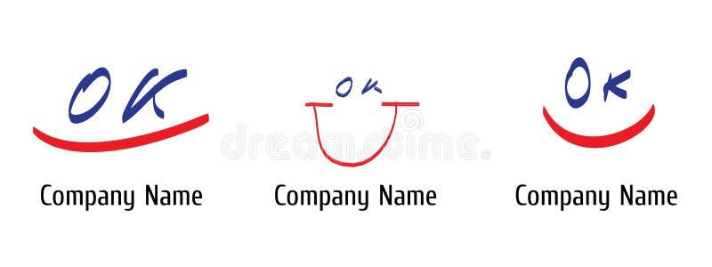 lycklig logo vektor illustrationer