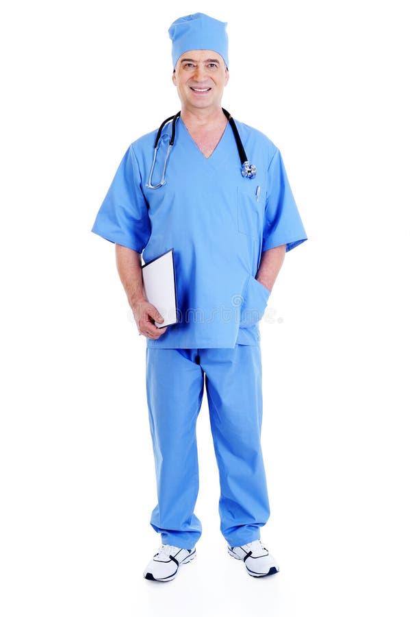 lycklig male kirurg royaltyfria foton