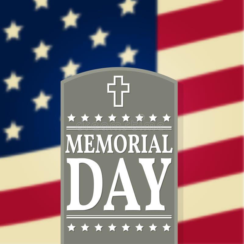 Lycklig Memorial Day bakgrundsmall Lycklig Memorial Day affisch amerikanska flaggan patriotiskt baner royaltyfri illustrationer