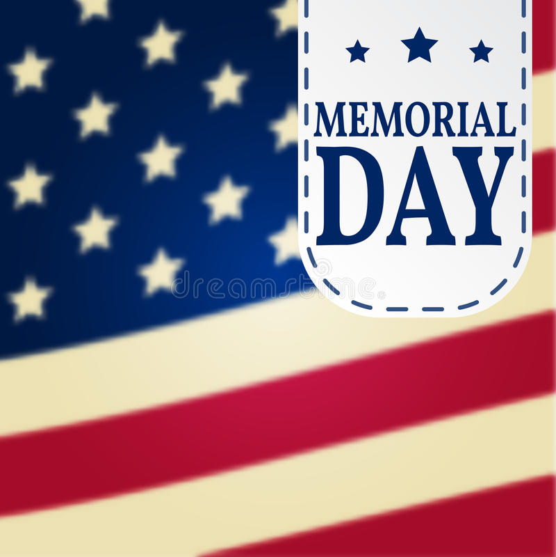 Lycklig Memorial Day bakgrundsmall Lycklig Memorial Day affisch patriotiskt baner också vektor för coreldrawillustration vektor illustrationer