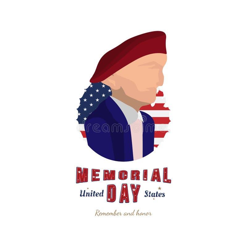 lycklig minnesm?rke f?r dag Illustration av militär Förenta staterna Plan illustration eps10 vektor illustrationer