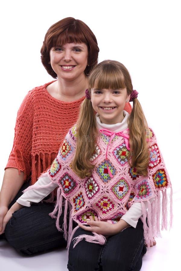 lycklig moder för dotterfamilj arkivfoton