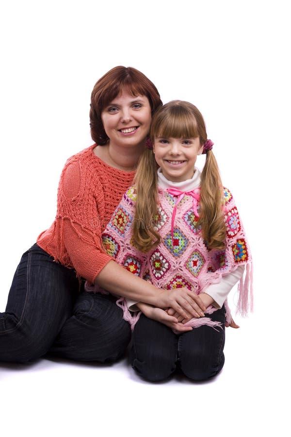 lycklig moder för dotterfamilj royaltyfri bild