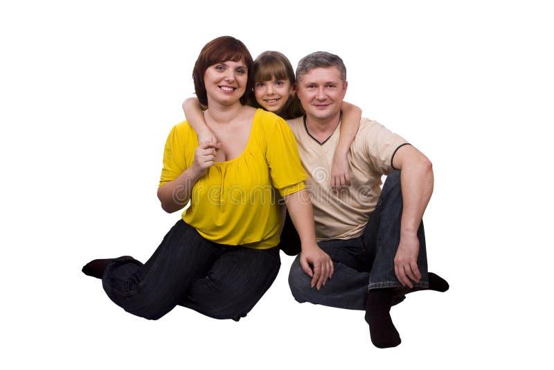 lycklig moder för dotterfamiljfader arkivbilder
