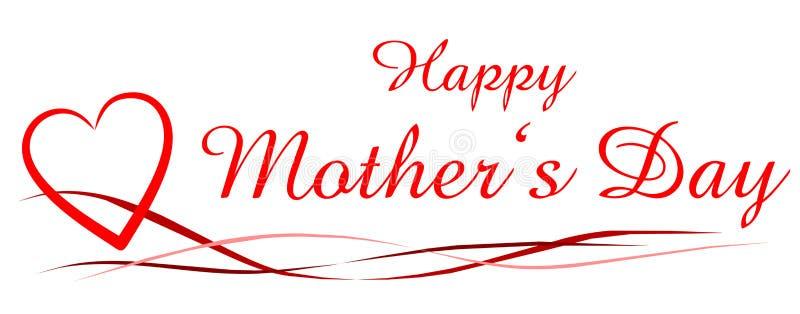 lycklig moder s för dag vektor illustrationer