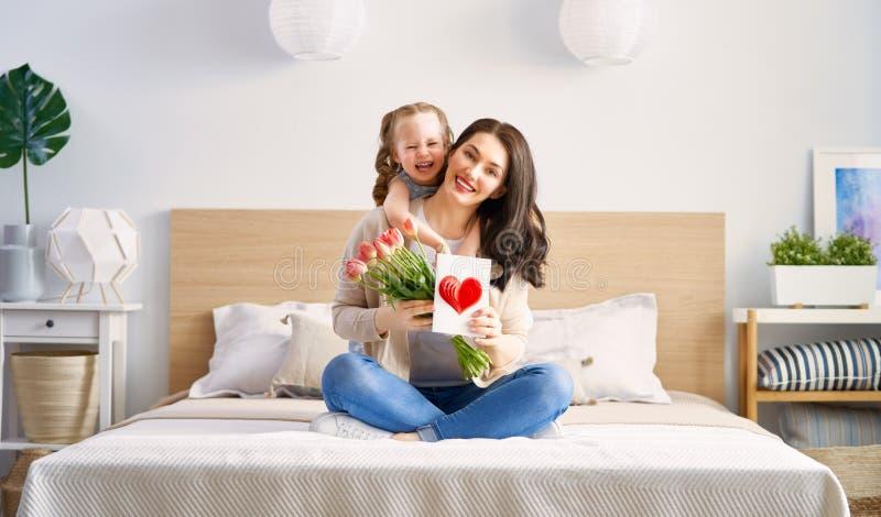 lycklig moder s för dag arkivfoto