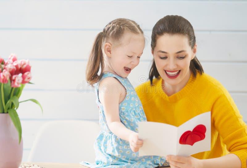 lycklig moder s f?r dag arkivbilder