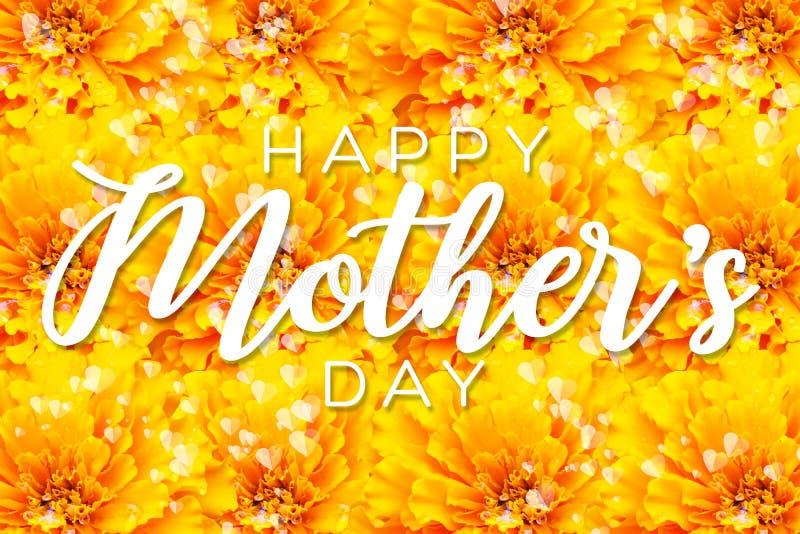 Lycklig moders design f?r orientering f?r dag med blommakronbladbakgrund r vektor illustrationer