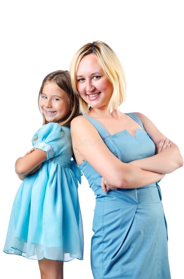 Lycklig Mom Och Dotter Fotografering för Bildbyråer