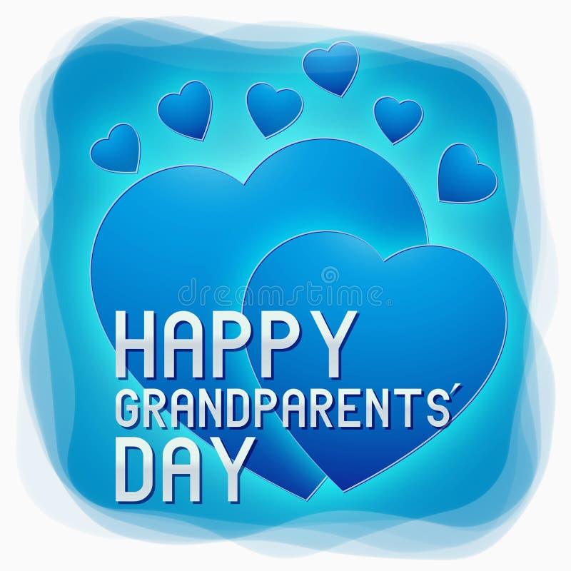 Lycklig morförälderdag royaltyfri illustrationer