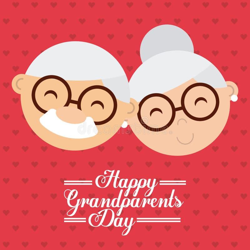 Lycklig morförälderdag stock illustrationer