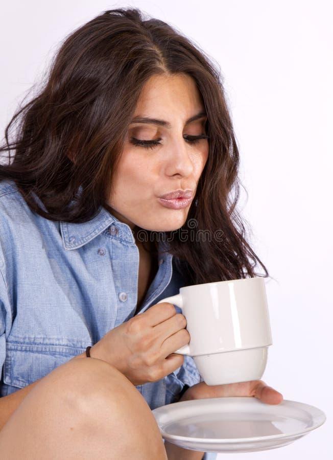 lycklig morgon för kaffe royaltyfria bilder