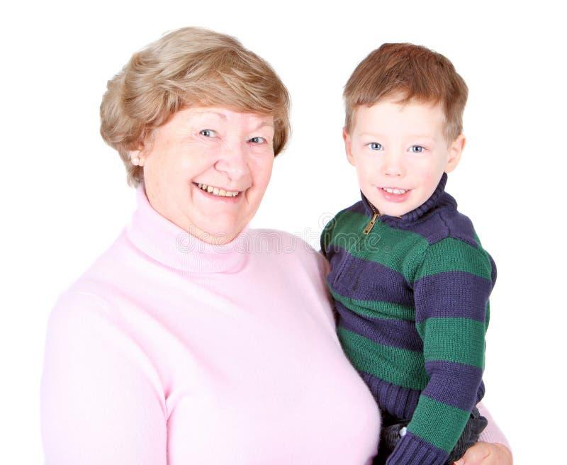 lycklig mormor arkivbild
