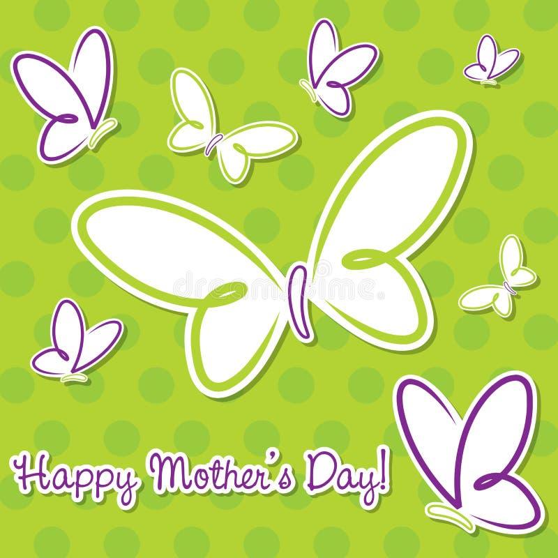 Lycklig mors dag stock illustrationer