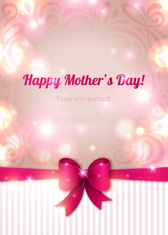 Lycklig mors dagbakgrund, vektorillustration stock illustrationer