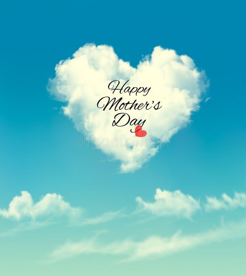 Lycklig mors dagmolnbakgrund vektor illustrationer