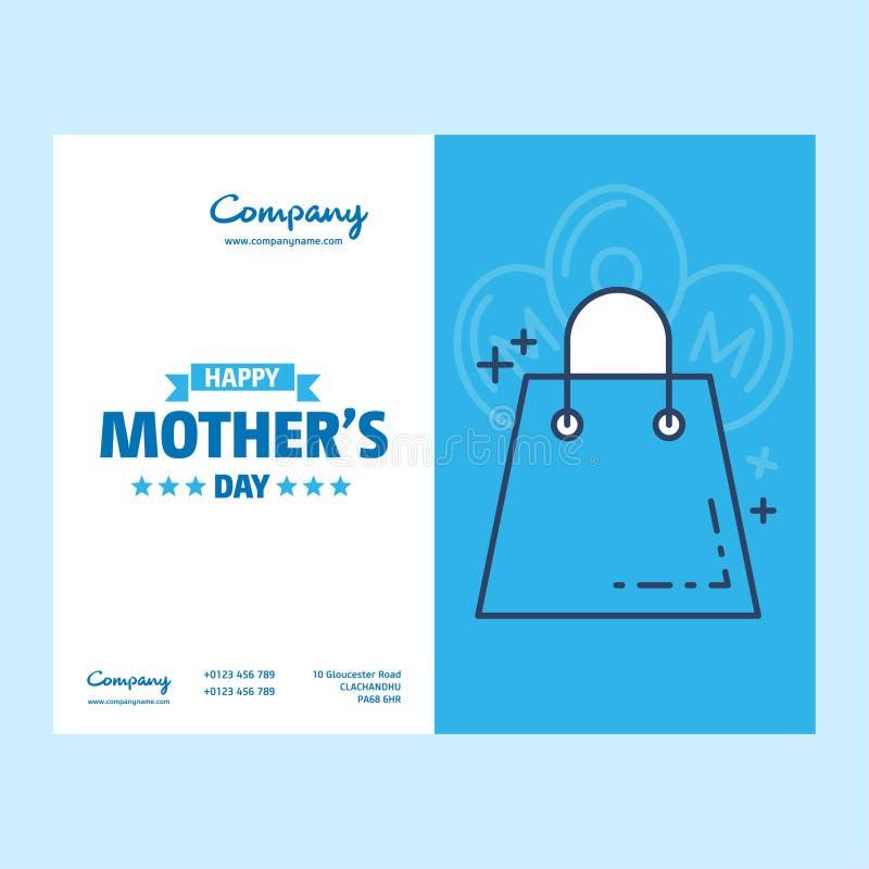 Lycklig mors dagtext som berömemblemet, etikett, symbol Text ca vektor illustrationer
