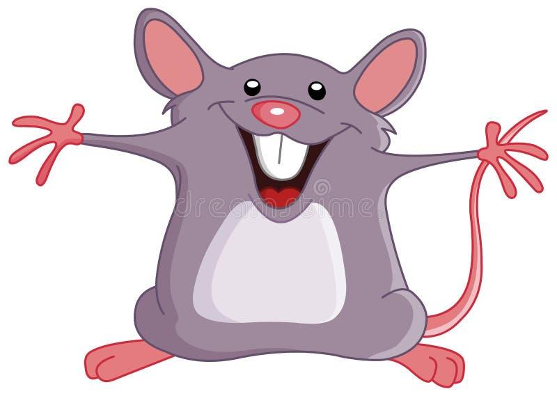 lycklig mus royaltyfri illustrationer
