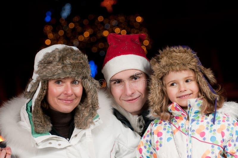 lycklig natt för jul royaltyfria bilder