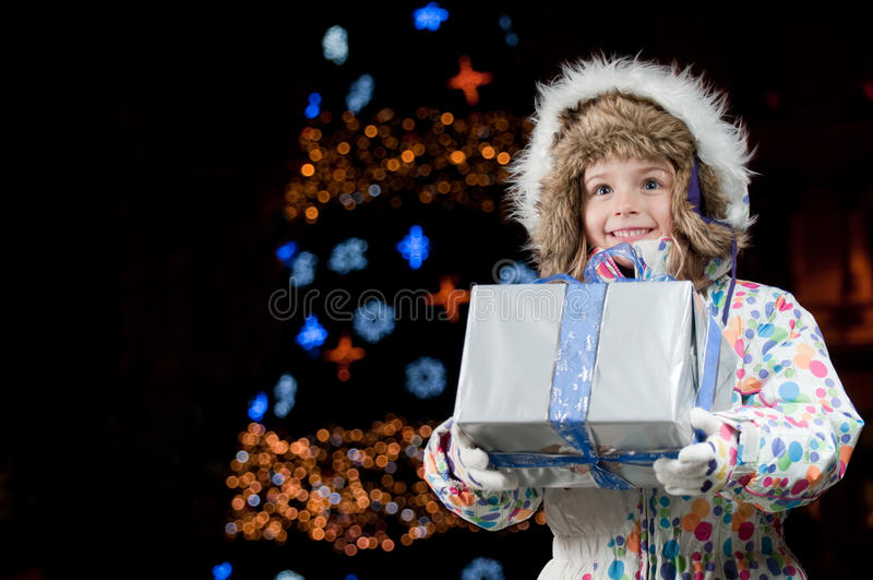 lycklig natt för jul royaltyfri bild