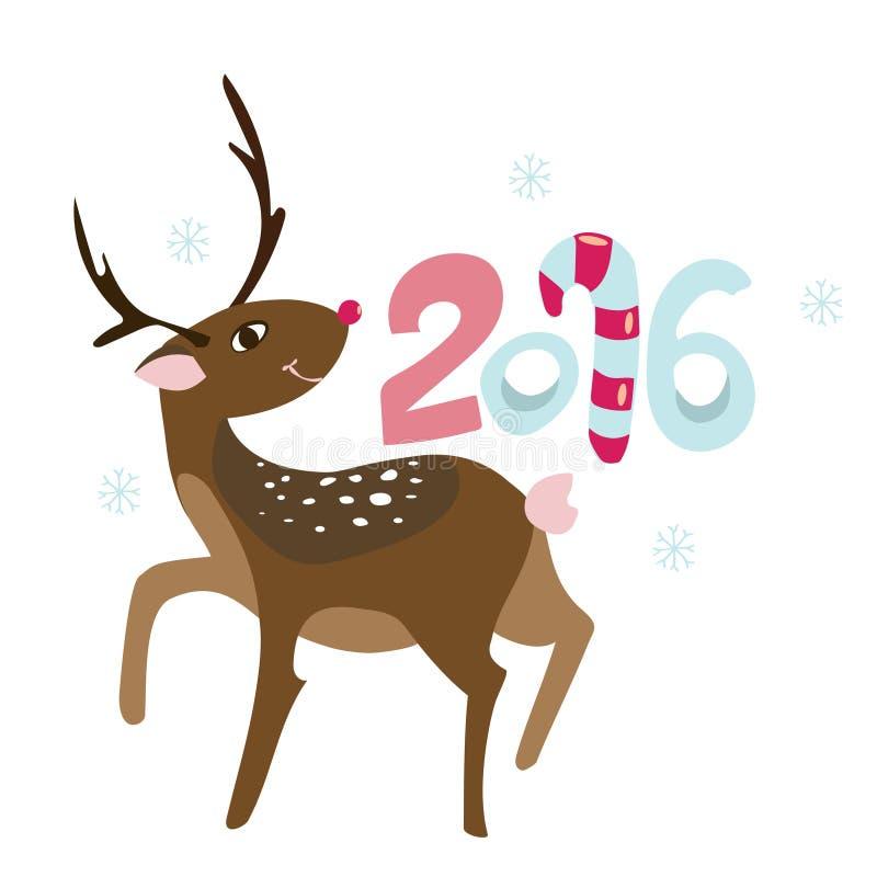 Lycklig ny 2016 år affischtemplat vektor illustrationer