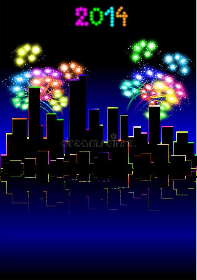 Lycklig ny Year.01 royaltyfri illustrationer