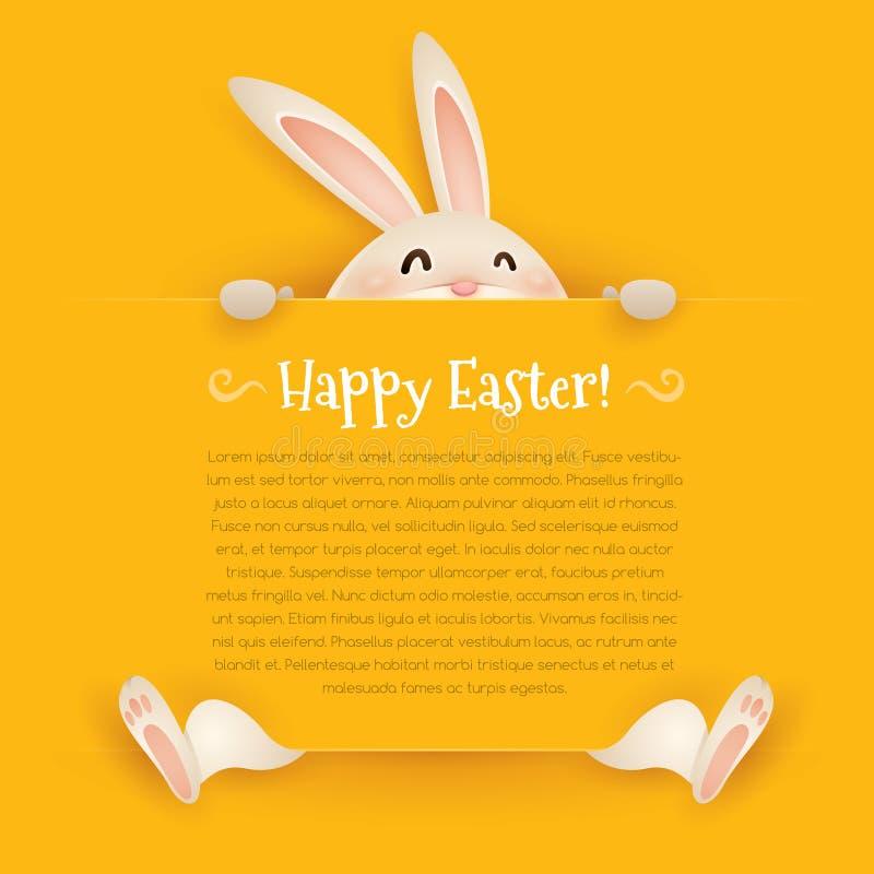 Lycklig påsk! Påskhälsningkort stock illustrationer