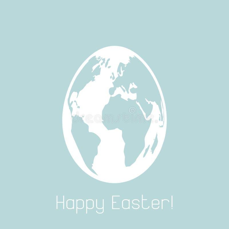 Lycklig påsk som gritting kortet stock illustrationer