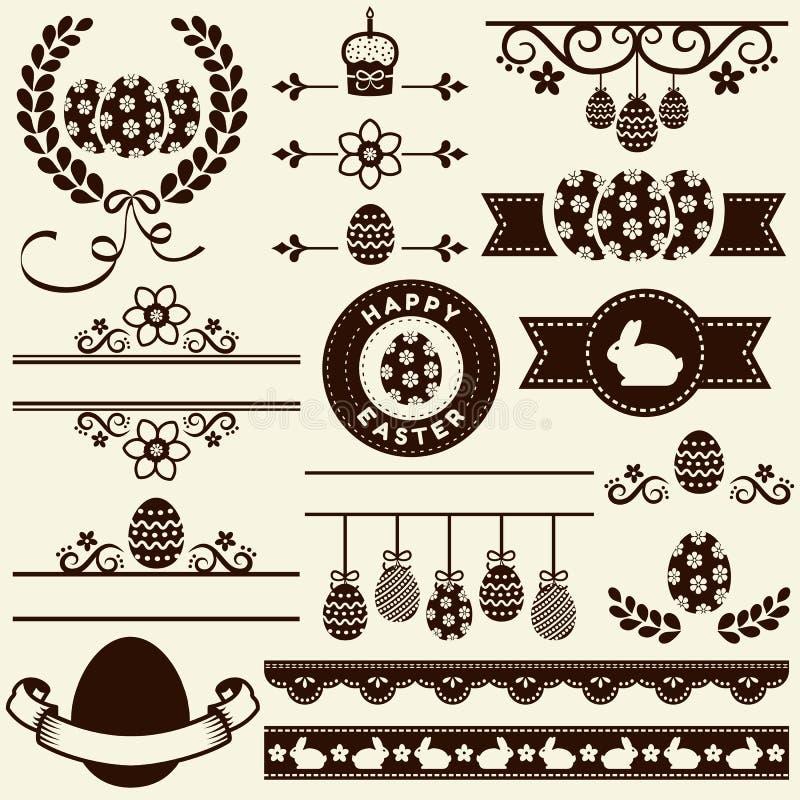 Lycklig påsk! Vektordesignbeståndsdelar