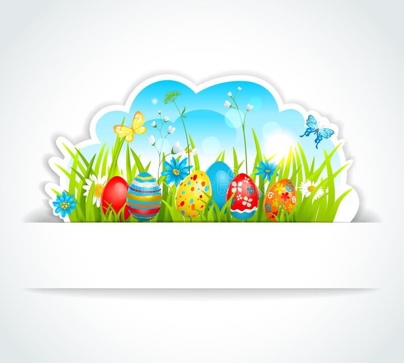 Lycklig påskbakgrund stock illustrationer