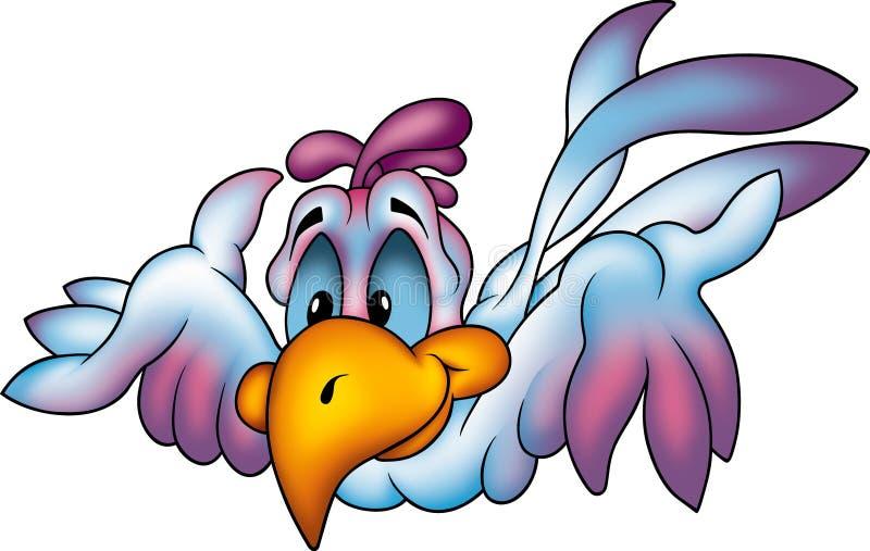 lycklig papegoja för flyga stock illustrationer