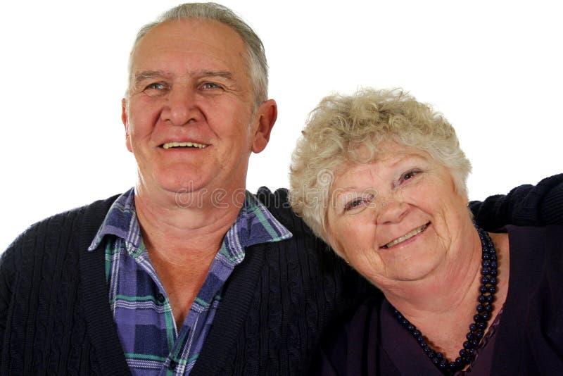 lycklig pensionär för 4 par royaltyfri foto