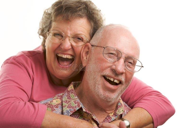 lycklig pensionär för par arkivbilder