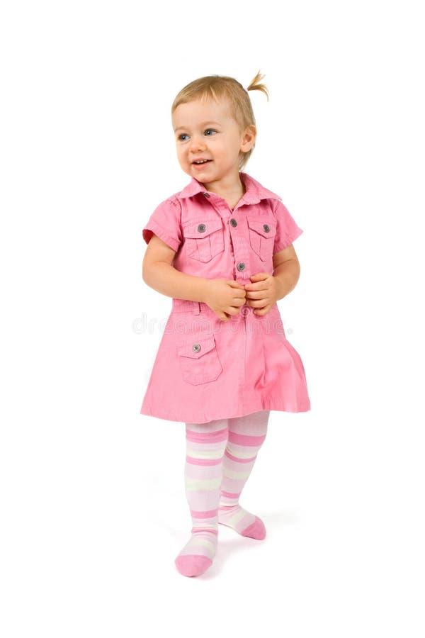 lycklig plattform för flicka ungt royaltyfri bild