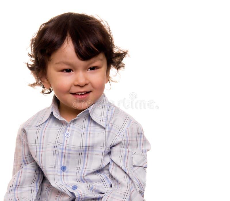 lycklig pojke little royaltyfria bilder
